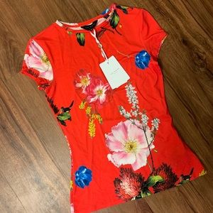 Ted Baker Red Floral Tee